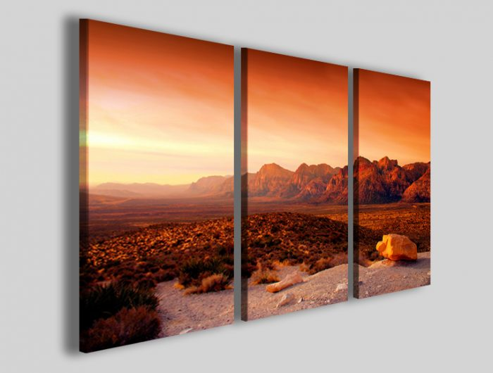 Stampa-su-tela-Canyon-nevada-sunset-quadro